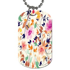Vector Floral Art Dog Tag (Two Sides)