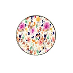 Vector Floral Art Hat Clip Ball Marker (4 pack)