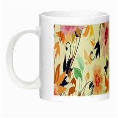Vector Floral Art Night Luminous Mugs