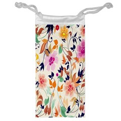 Vector Floral Art Jewelry Bag