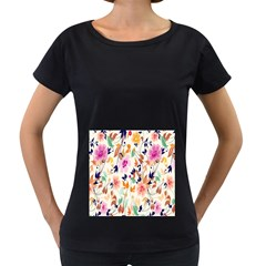 Vector Floral Art Women s Loose Fit T Shirt (black)