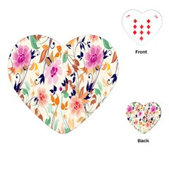 Vector Floral Art Playing Cards (heart)
