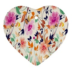 Vector Floral Art Heart Ornament (Two Sides)