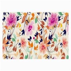 Vector Floral Art Large Glasses Cloth (2 Side)