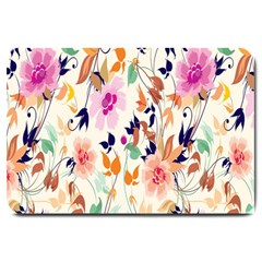 Vector Floral Art Large Doormat