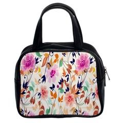 Vector Floral Art Classic Handbags (2 Sides)