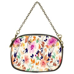 Vector Floral Art Chain Purses (one Side)