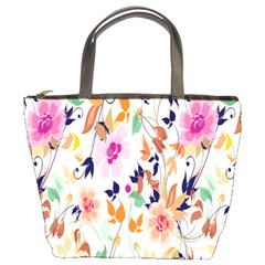 Vector Floral Art Bucket Bags
