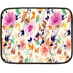 Vector Floral Art Double Sided Fleece Blanket (mini)