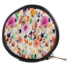 Vector Floral Art Mini Makeup Bags