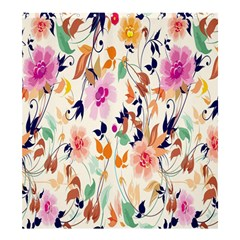 Vector Floral Art Shower Curtain 66  X 72  (large)