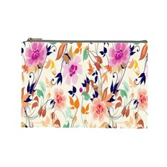Vector Floral Art Cosmetic Bag (large)
