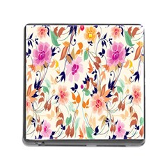 Vector Floral Art Memory Card Reader (square)