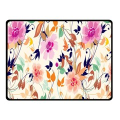 Vector Floral Art Fleece Blanket (small)