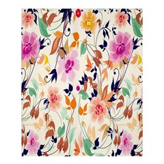 Vector Floral Art Shower Curtain 60  X 72  (medium)
