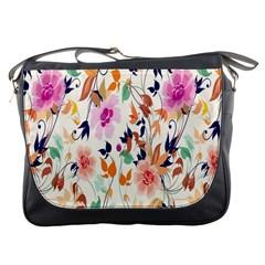 Vector Floral Art Messenger Bags
