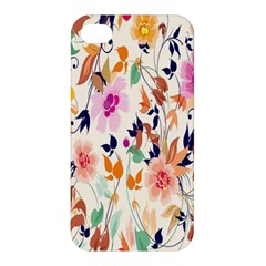 Vector Floral Art Apple Iphone 4/4s Premium Hardshell Case
