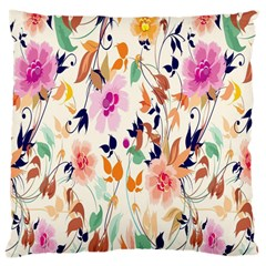Vector Floral Art Large Cushion Case (One Side)