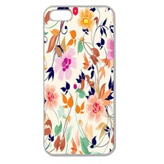 Vector Floral Art Apple Seamless Iphone 5 Case (clear)