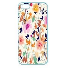 Vector Floral Art Apple Seamless Iphone 5 Case (color)