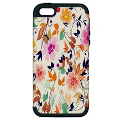 Vector Floral Art Apple iPhone 5 Hardshell Case (PC+Silicone)