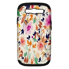 Vector Floral Art Samsung Galaxy S Iii Hardshell Case (pc+silicone)