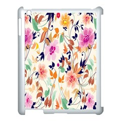 Vector Floral Art Apple Ipad 3/4 Case (white)