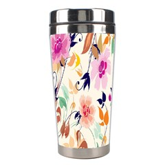 Vector Floral Art Stainless Steel Travel Tumblers
