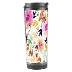 Vector Floral Art Travel Tumbler