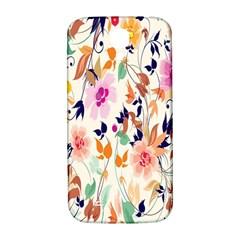 Vector Floral Art Samsung Galaxy S4 I9500/I9505  Hardshell Back Case