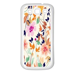 Vector Floral Art Samsung Galaxy S3 Back Case (white)