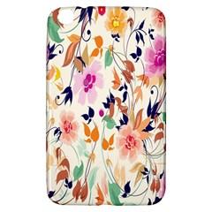 Vector Floral Art Samsung Galaxy Tab 3 (8 ) T3100 Hardshell Case
