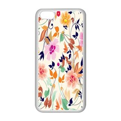 Vector Floral Art Apple Iphone 5c Seamless Case (white)