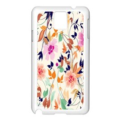 Vector Floral Art Samsung Galaxy Note 3 N9005 Case (white)