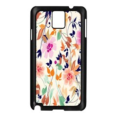 Vector Floral Art Samsung Galaxy Note 3 N9005 Case (black)