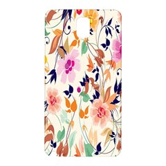 Vector Floral Art Samsung Galaxy Note 3 N9005 Hardshell Back Case