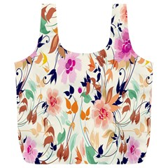 Vector Floral Art Full Print Recycle Bags (l)