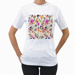 Vector Floral Art Women s T Shirt (white)