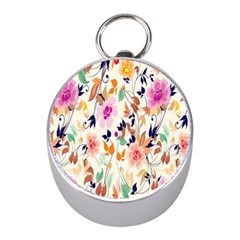 Vector Floral Art Mini Silver Compasses