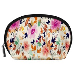 Vector Floral Art Accessory Pouches (large)