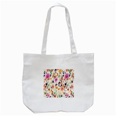Vector Floral Art Tote Bag (white)