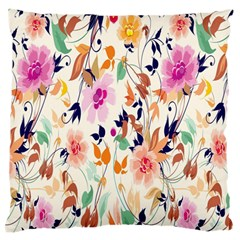 Vector Floral Art Standard Flano Cushion Case (one Side)