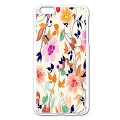 Vector Floral Art Apple Iphone 6 Plus/6s Plus Enamel White Case
