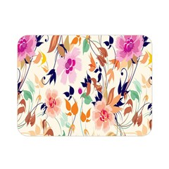 Vector Floral Art Double Sided Flano Blanket (mini)
