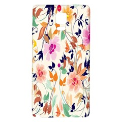 Vector Floral Art Galaxy Note 4 Back Case