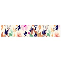 Vector Floral Art Flano Scarf (small)