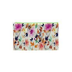 Vector Floral Art Cosmetic Bag (xs)