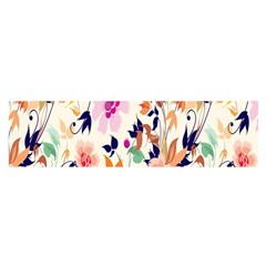 Vector Floral Art Satin Scarf (Oblong)