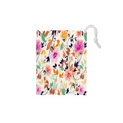 Vector Floral Art Drawstring Pouches (xs)