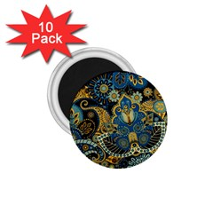 Retro Ethnic Background Pattern Vector 1.75  Magnets (10 pack)